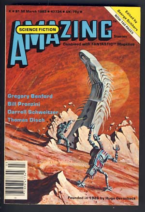 Amazing Science Fiction Stories Combined with Fantastic Stories March 1983 Vol. 56 No. 5. George H. Scithers, ed.