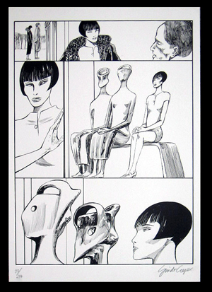 Valentina incontra Henry Moore Signed and Numbered Limited Edition Print #4. Guido Crepax.