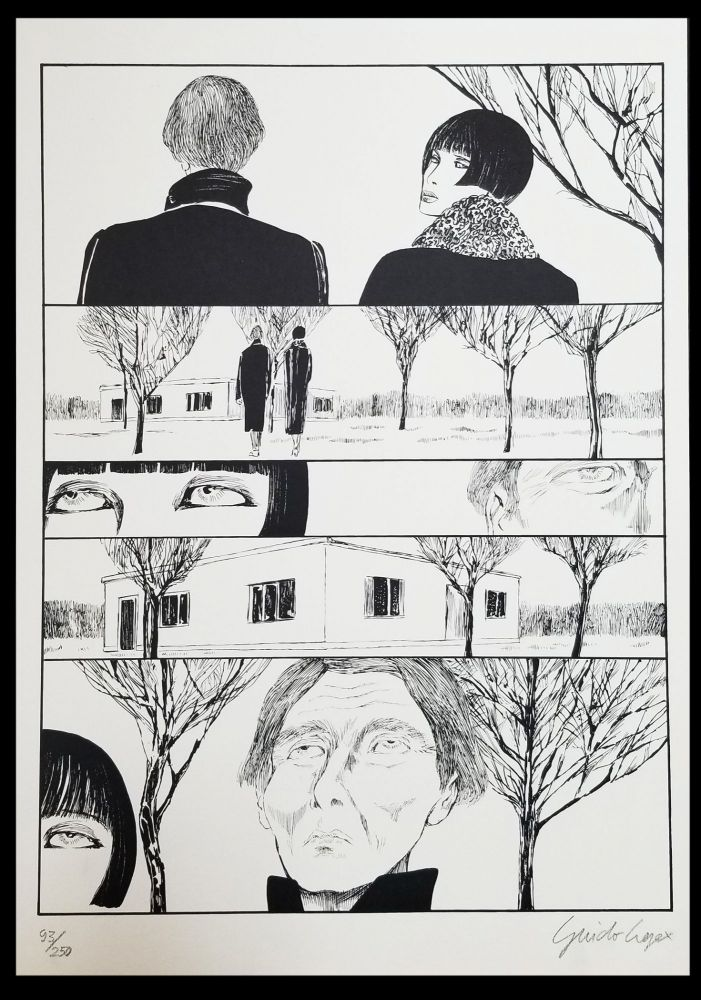 Valentina incontra Henry Moore Signed and Numbered Limited Edition Print #6. Guido Crepax.