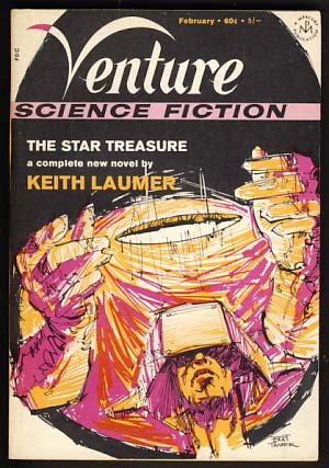 Venture Science Fiction Magazine February 1970 Vol. 4 No. 1. Edward L. Ferman, ed.