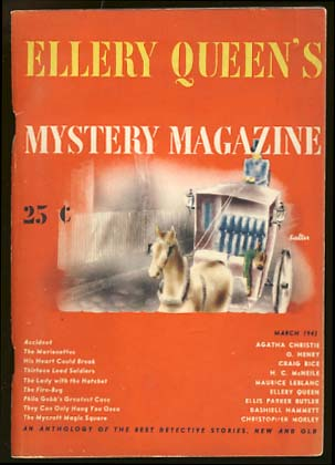 Ellery Queen's Mystery Magazine March 1943 Vol. 4 No. 2. Ellery Queen, ed.