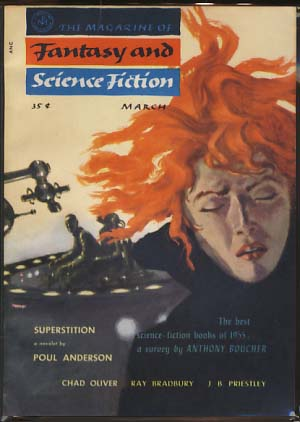 The Magazine of Fantasy and Science Fiction March 1956. Anthony Boucher, ed.