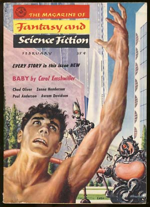 The Magazine of Fantasy and Science Fiction February 1958. Anthony Boucher, ed.