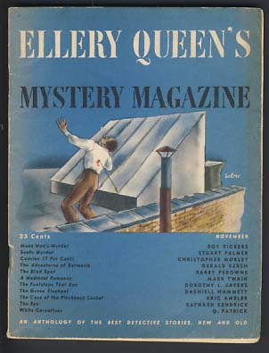 The Green Elephant in Ellery Queen's Mystery Magazine November 1945 Vol. 6 No. 35. Dashiell Hammett.