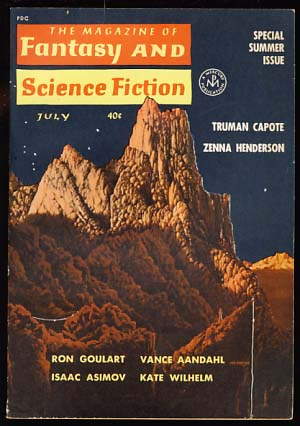 The Magazine of Fantasy and Science Fiction July 1962. Edward L. Ferman, ed.