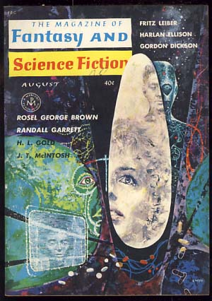 The Magazine of Fantasy and Science Fiction August 1962. Edward L. Ferman, ed.
