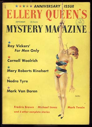 Ellery Queen's Mystery Magazine September 1955. Ellery Queen, ed.