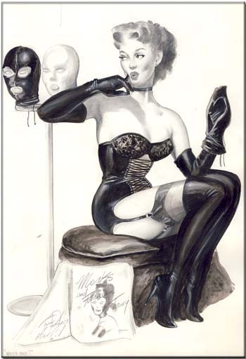 Tom Porta Homage to Gil Elvgren Pin-Up Original Art. Tom Porta.
