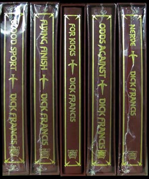 Set of Five Signed Limited Editions. (Odds Against. Nerve. Flying Finish. Blood Sport. For Kicks.). Dick Francis.