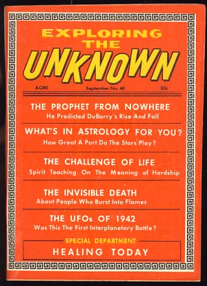 Exploring the Unknown September 1968 by Robert A  W  Lowndes, ed on Parigi  Books