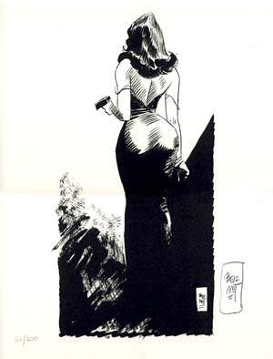 Pin-Up #15 from the Portfolio Chiara, Chica e le altre - Signed and Numbered Limited Edition Print. Jordi Bernet.