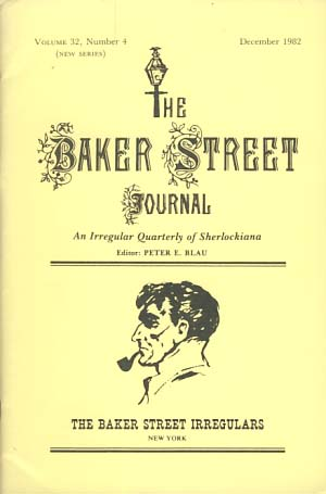 The Baker Street Journal December 1982. Peter F. Blau, ed.