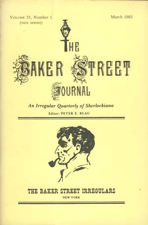 The Baker Street Journal March 1983. Peter F. Blau, ed.