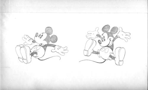 Mickey Mouse Jumping - Original Art. Mike Royer.