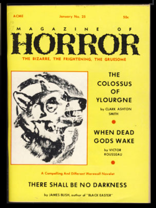 Magazine of Horror #25 January 1969. Robert A. W. Lowndes, ed.