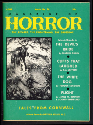 Magazine of Horror #26 March 1969. Robert A. W. Lowndes, ed.