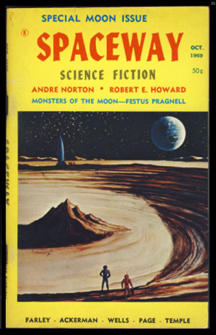Spaceway Science Fiction October 1969 - Special Moon Issue. WM. L. Crawford, ed.