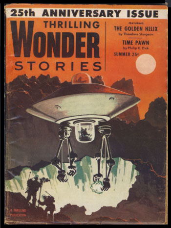 Time Pawn in Thrilling Wonder Stories Summer 1954. Philip K. Dick.