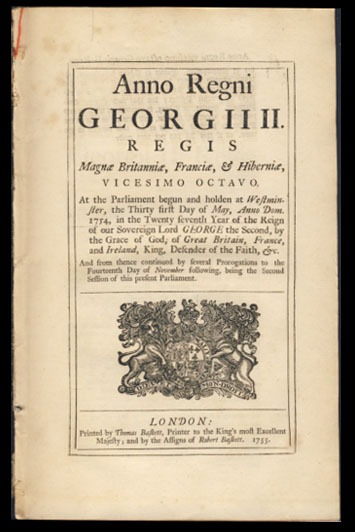 Anno Regni Georgii II Regis Magnae Britanniae, Franciae, & Hiberniae, Vicesimo Octavo. An Act for Punishing Mutiny and Desertion; and for the better Payment of the Army and their Quarters.