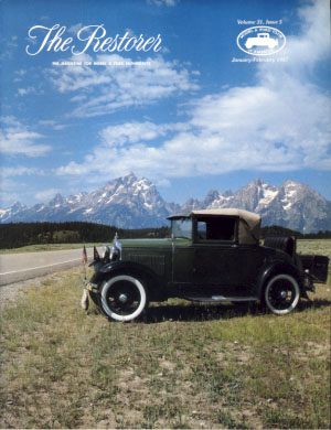 The Restorer (Model A Ford Club of America) 1987 Full Run. Phil. ed Allin.