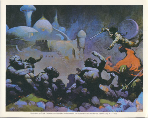 Seven Color Prints Issued by the Science Fiction Book Club. Frank Frazetta.