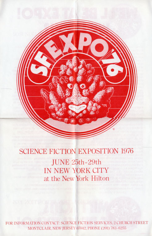 New York City Science Fiction Exposition 1976 Poster. Science Fiction Exposition.