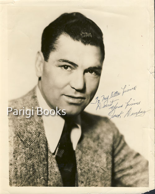 Signed and Inscribed Photograph. Jack Dempsey.