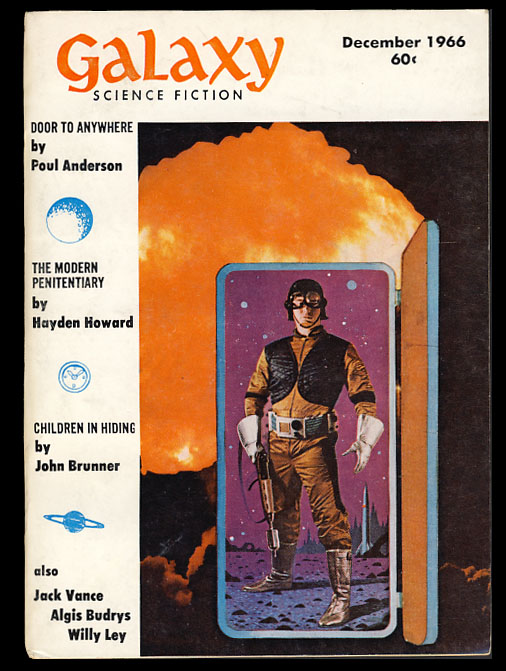Galaxy Magazine December 1966. Frederik Pohl, ed.