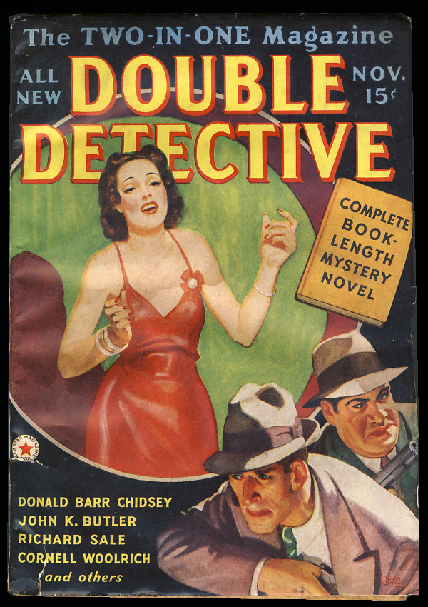 Double Detective November 1938. Cornell Woolrich.