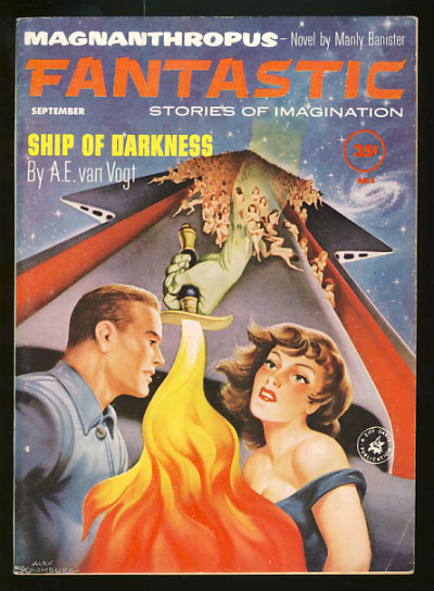 Ship of Darkness in Fantastic September 1961. Alfred Elton van Vogt.