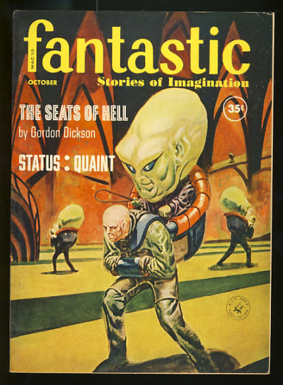 Fantastic October 1960. Cele Goldsmith, ed.