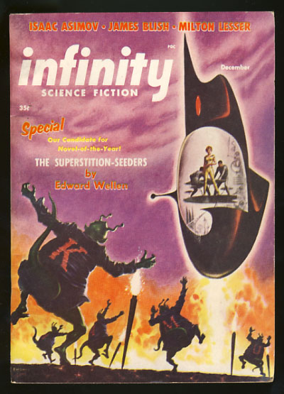 Infinity Science Fiction December 1956. Larry T. Shaw, ed.