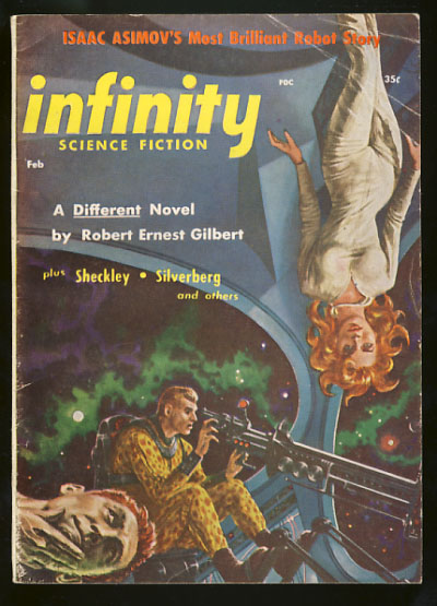 Infinity Science Fiction February 1957. Larry T. Shaw, ed.