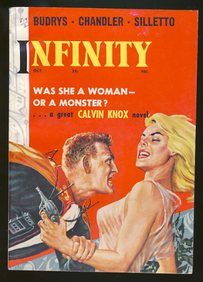 Infinity Science Fiction October 1958. Larry T. Shaw, ed.
