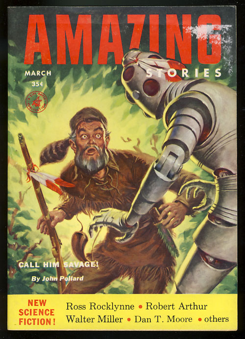 Amazing Stories March 1954. Howard Browne, ed.
