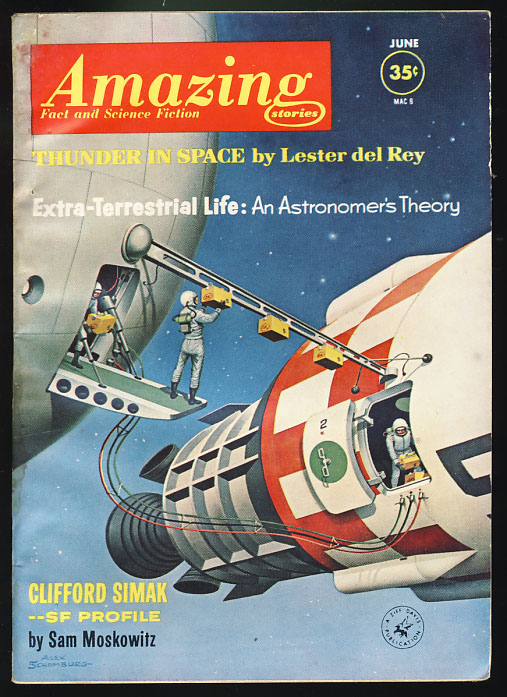 Amazing Stories June 1962. Cele Goldsmith, ed.