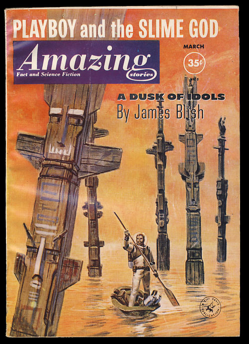 Amazing Stories March 1961. Cele Goldsmith, ed.