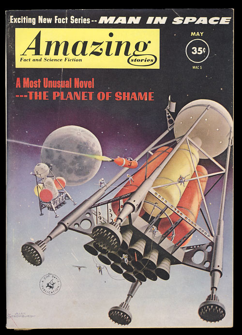 Amazing Stories May 1961. Cele Goldsmith, ed.