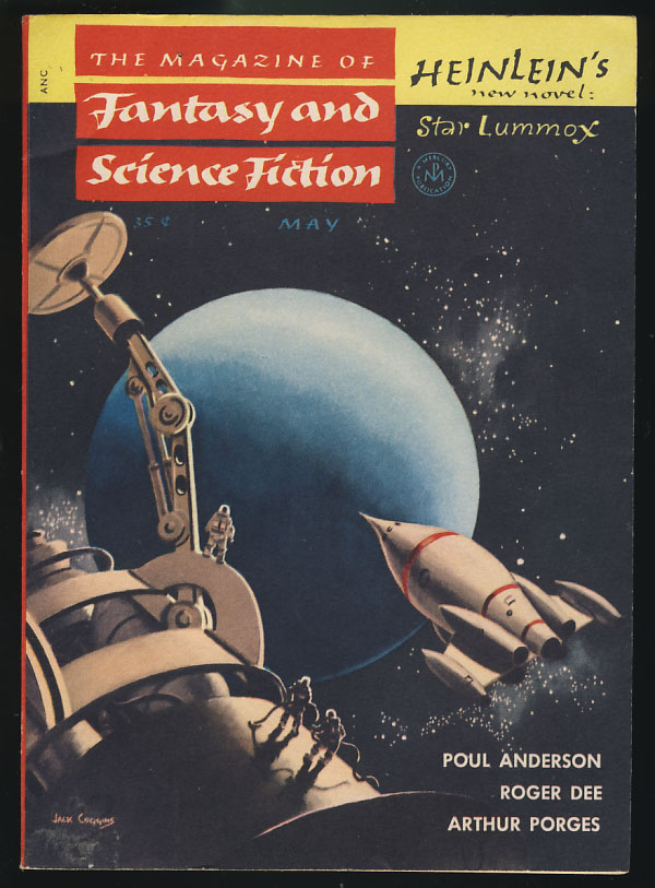 Star Lummox Part I in The Magazine of Fantasy and Science Fiction May 1954  by Robert A  Heinlein on Parigi Books