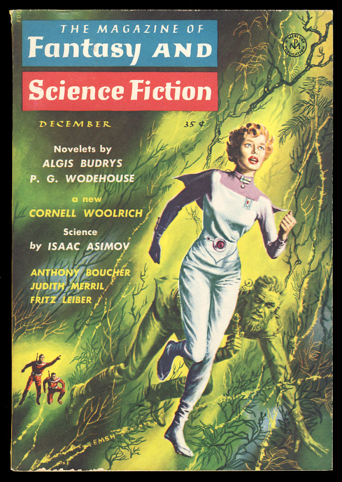 Honeysuckle Cottage in The Magazine of Fantasy and Science Fiction December 1958. P. G. Wodehouse.