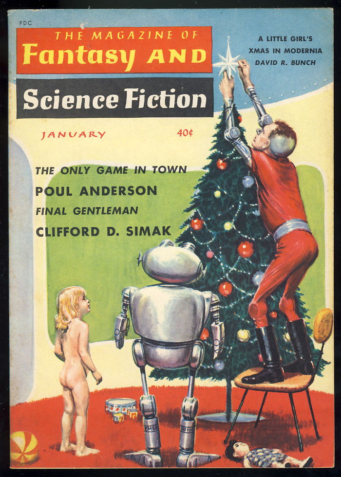 Final Gentleman in The Magazine of Fantasy and Science Fiction January 1960. Clifford D. Simak.