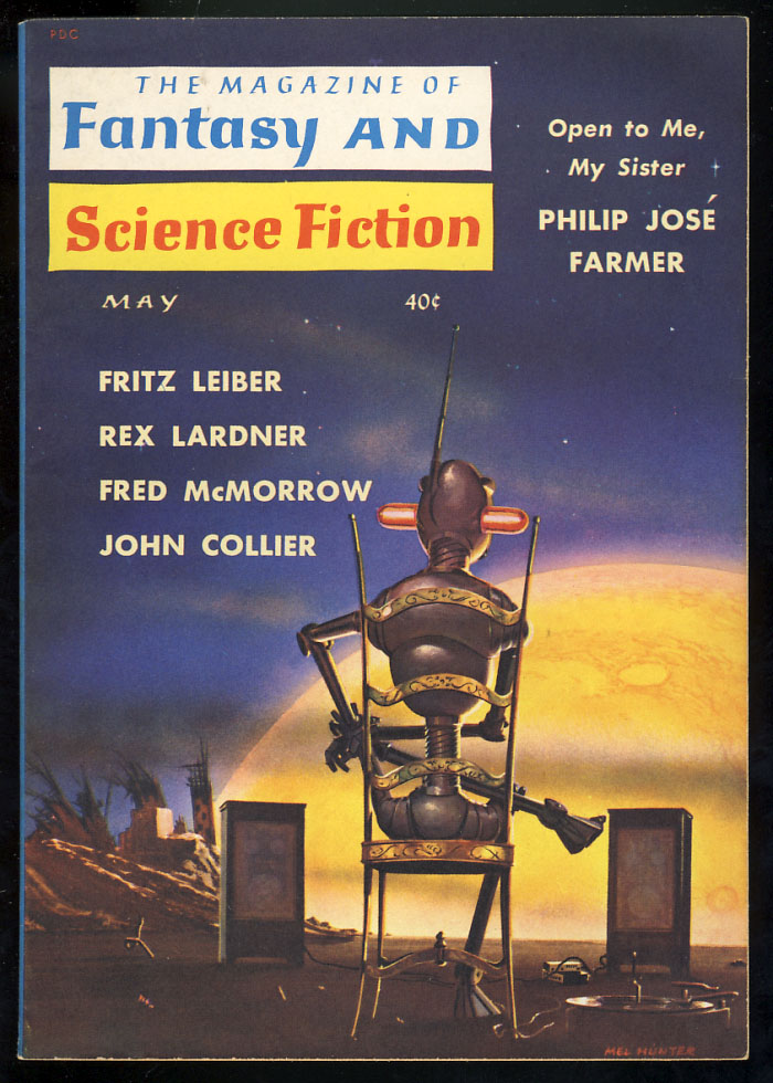 Open to Me, My Sister in The Magazine of Fantasy and Science Fiction May 1960. Philip José Farmer.