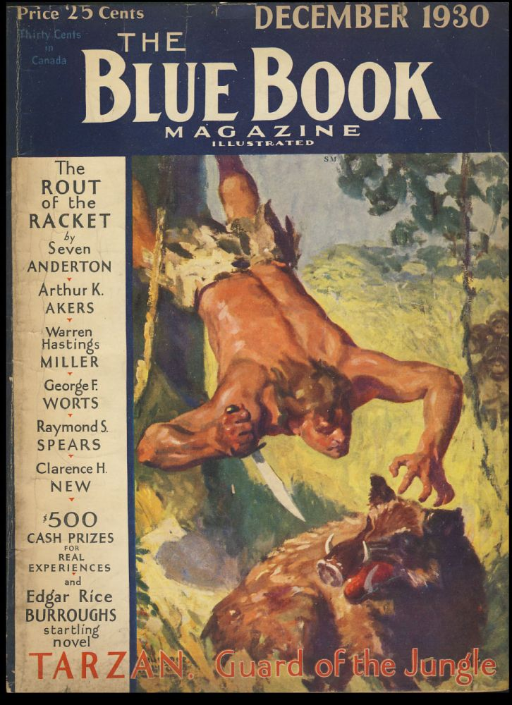 Tarzan, Guard of the Jungle Part Three in The Blue Book Magazine December 1930. Edgar Rice Burroughs.