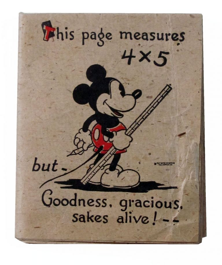 Mickey Mouse 1930s Large Folded Birthday Card