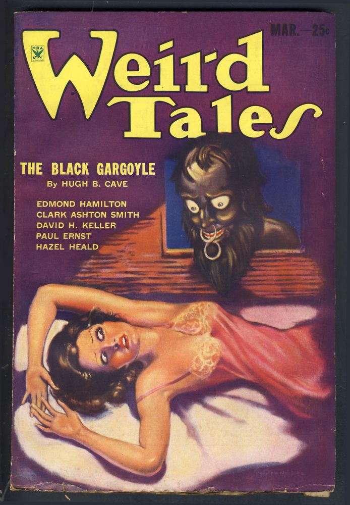 Winged Death in Weird Tales March 1934. H. P. Lovecraft, Hazel Heald.