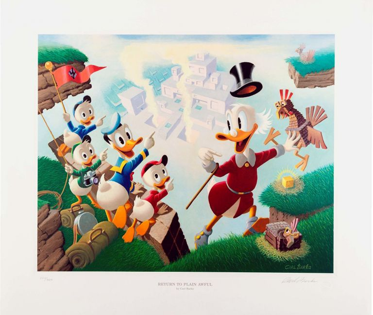 Return to Plain Awful Signed Limited Edition Lithograph. Carl Barks.