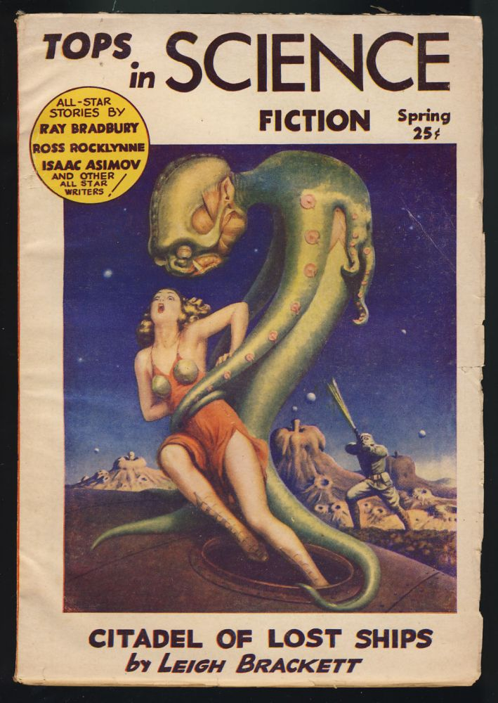 Black Friar of the Flame in Tops in Science Fiction Spring 1953. Isaac Asimov.