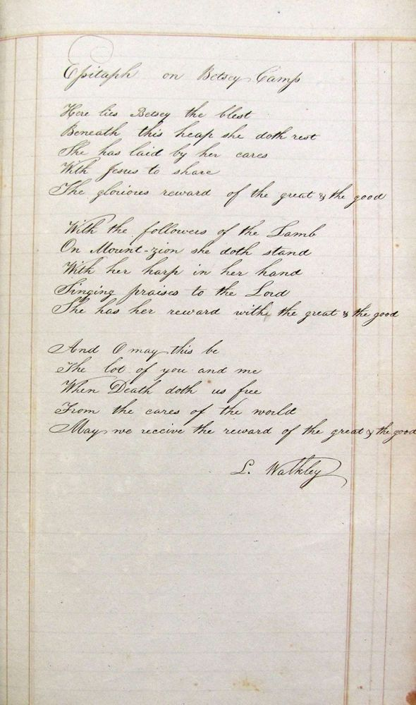 Handwritten 1817 Ledger from L. S. Walkley from Haddam, CT. L. S. Walkley, Connecticut Haddam.