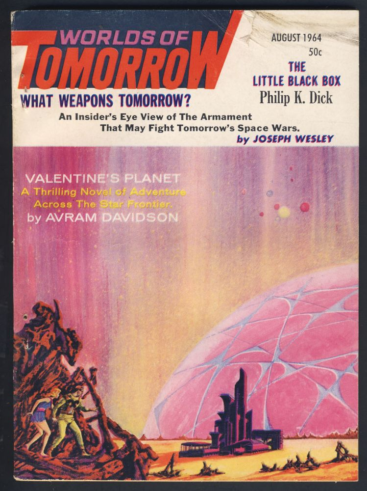 The Little Black Box in Worlds of Tomorrow August 1964. Philip K. Dick.