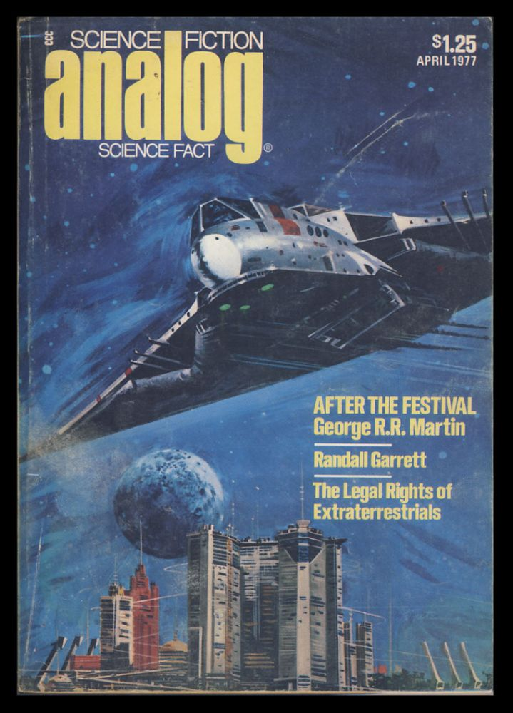 Analog Science Fiction Science Fact April 1977. Ben Bova, ed.